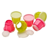 Picture of Jelly Moulds 3 x Hot Pink / 3 x Lime Green 140ml / With Removable Tops & Bases