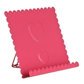 Picture of Cook Book Stand Heart Design Hot Pink Enamel Attractive Stylish For Kitchen Need