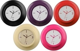 Picture of WALL CLOCK 5 COLOURS NEW PLASTIC BODY CIRCULAR DIAL H26xW26xD7cm HOME OFFICE