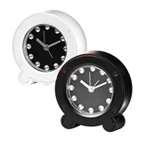 Picture of TABLE TOP ALARM CLOCK FUNKY WHITE BLACK HOME OFFICE BATTERY OPERATED