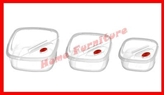 Picture of SET OF 3 PIECE PLASTIC FOOD CONTAINERS STORAGE BOWL SET WITH LIDS
