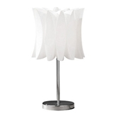 Picture of TABLE LAMP CURVE CHROME WITH WHITE SHADE DECORATIVE SIDE TABLE LAMP