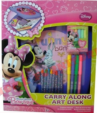 Picture of Disney Minnie Mouse Bowtique Carry Along Art Desk Colouring Kids Learning Set