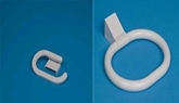 Picture of Towel Ring & Toilet Roll Holder White Plastic Quality PIMS Bathroom Essentials