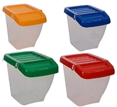 Picture of Wham 30L Recycling Bin & Hinged Lid Clear Bin With Coloured Lid Stackable New