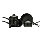 Picture of NEW BLACK 5 PC PIECE BELLY PAN SET KITCHEN ACCESSORIES
