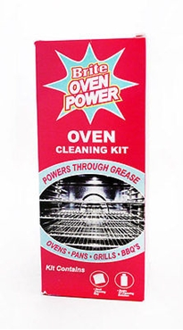 Picture of Oven Cleaner Kit Solution Brite Oven Power Oven Pan Grill BBQ Grease Cleaner New