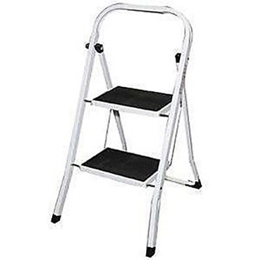 Picture of Highlands Hardware 2 Step Ladder Metal Footplates With Rubber Steps 0.8 m