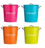 Picture of Compost Bin Galvanised Steel (Powder Coated) Zinc Handles Plastic Inner Bucket