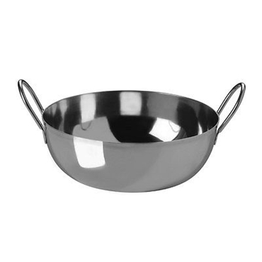 Picture of Balti Dish Stainless Steel With Handles Lightweight Kitchen Accessories New