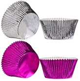 Picture of Large Cupcake Cases 40pcs Paper / Foil Coated Available in 2 Colours Kitchen New
