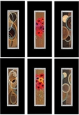 Picture of Framed Wall Art Hanging 6 Different Nature Designs With Quality Black Frame