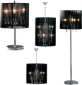 Picture of Calice Lamps And Chandelier Chrome Effect Crystal Glass Droplets Black