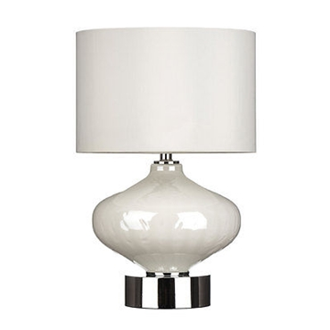 Picture of Table Lamp White Glass Ceramic Body Stylish And Elegant