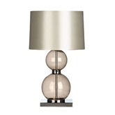 Picture of Table Lamp 2 Ball Smoked Glass Chrome Base Stylish And Elegant