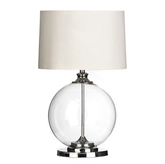 Picture of Table Lamp Clear Glass Body Chrome Base Stylish And Elegant