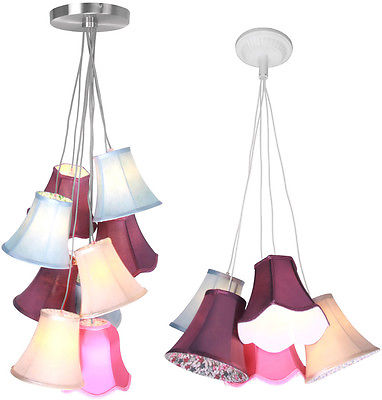 Picture Of Pendant Light Tiered 9 And 5 Multi Coloured Shades Ceiling Hanging Lights