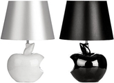 Picture of Apple Table Lamp Study Lamp Black Fabric Shade In Two Colors Modern Design