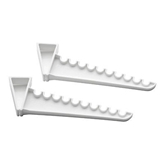 Picture of Over Door Ironing Hooks Set of 2 White Color Plastic Made Holds 10 Hangers