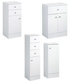 Picture of Plaza Storage Cabinets White High Gloss Finish In 4 Designs Space Saving