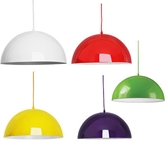 Picture of Mars Pendant Light  E27 Edison Screw 60 Watt Available In 5 Colours Brand New