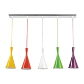 Picture of 5 Cones Pendant Light Ceiling Multi Coloured With Elegant Design Brand New