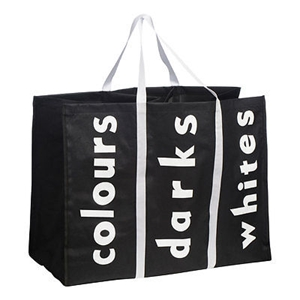 Picture of Laundry Bags Polyester 3 And 2 Compartments With Writing & Handles Folds Flat