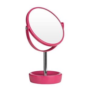 Picture of Swivel Table Mirror Plastic Body Chrome Stand  Magnifying Option In 5 Colors