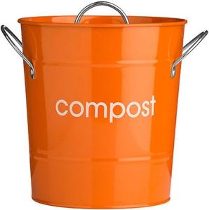 Picture of Compost Bin Galvanised Steel (Powder Coated) Zinc Handles Plastic Inner Bucket