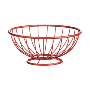 Picture of Helix Fruit Basket Black Red Cream Hot Pink Powder Coated Metal Round Basket New