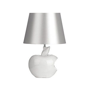 Picture of Apple Table Lamp Study Lamp Black Fabric Shade In Two Colors Modern Design (White)