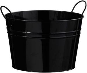 Picture of Bucket Zinc Lightweight in 2 Colours Pink & Black Zinc Handles Home Accessories