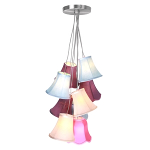 Picture of Pendant Light Tiered  9 Multi Coloured Shades Ceiling Hanging Lights (9 Shades)