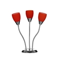 Picture of Flexi Chrome Base Table Lamp with Red, Green, or Orange Glass Shades