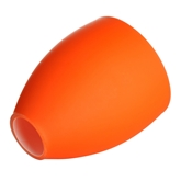 Picture of Replacement Glass Shade For Flexi Chrome Base Table Lamp with ORANGE Glass Shades