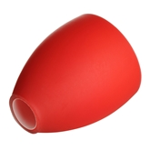 Picture of Replacement Glass Shade For Flexi Chrome Base Table Lamp with Red Glass Shades