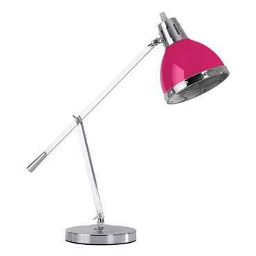 Picture of Flexi Desk Lamp With Adjustable Chrome Base In Hot Pink