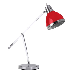 Picture of Flexi Desk Lamp With Adjustable Chrome Base In Red