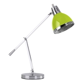 Picture of Flexi Desk Lamp With Adjustable Chrome Base In Lime Green