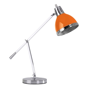 Picture of Flexi Desk Lamp With Adjustable Chrome Base In Orange