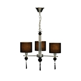 Picture of Black Crystal 3 Arm Ceiling Light