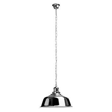 Picture of Metal Pendant Light with Chrome Finish