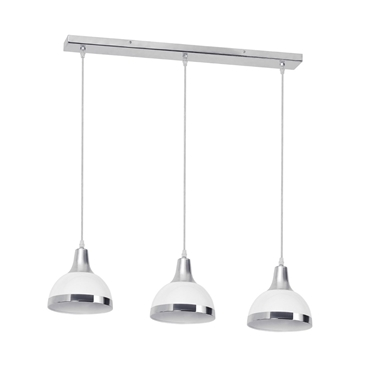 Picture of 3 Pendant Light White Shade / Chrome