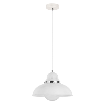 Picture of White & Chrome Jasper Single Shade Pendant Light