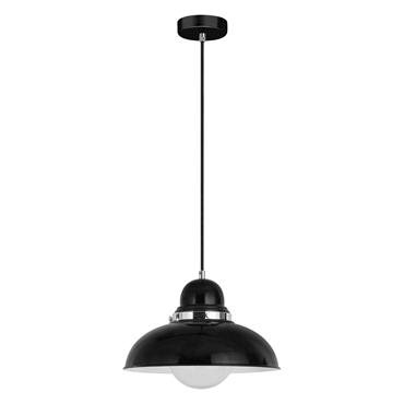 Picture of Black & Chrome Jasper Single Shade Pendant Light