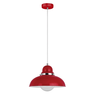 Picture of Red & Chrome Jasper Single Shade Pendant Light