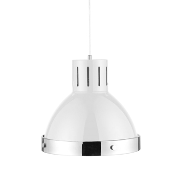 Picture of White and Chrome Pendant Light