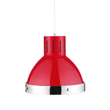Picture of Red and Chrome Pendant Light