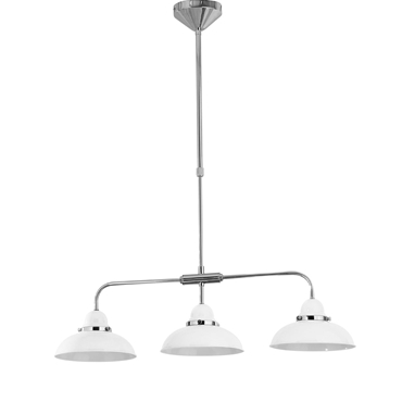 Picture of Jasper White and Chrome 3 Light Pendant Light