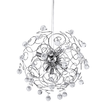 Picture of Pendant Light Crystal Detailing Sphere Frame